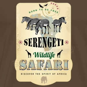 Zebras Wildlife Safari Serengeti Africa Adventure - Männer Premium T-Shirt
