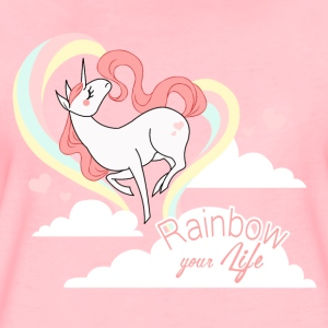 Rose cristal rainbow your life Sweat-shirts - T-shirt Premium Femme