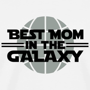 Best Mom In The Galaxy Buttons - Men's Premium T-Shirt