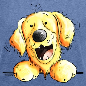 The Golden Retriever  Hoodies & Sweatshirts - Women's T-shirt with rolled up sleeves