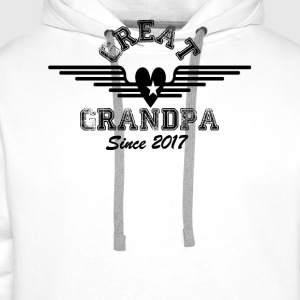 Great Grandpa Since 2017 T-Shirts - Men's Premium Hoodie