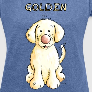 Little Golden Retriever Hoodies & Sweatshirts - Women's T-shirt with rolled up sleeves
