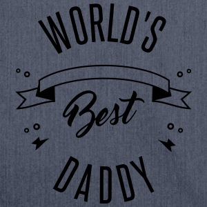 WORLD'S BEST DADDY - Borsa in materiale riciclato
