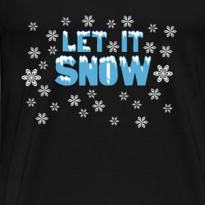 Let It Snow Tröjor - Premium-T-shirt herr