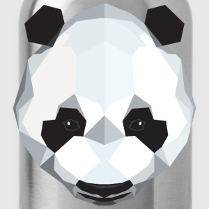 Cute Panda Illustration (Low Poly) T-Shirts - Trinkflasche