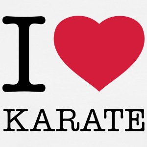 I LOVE KARATE - Herre premium T-shirt