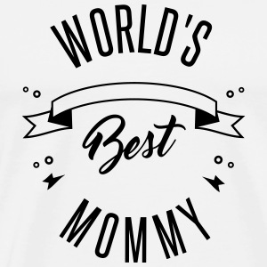WORLD'S BEST MOMMY Buttons - Men's Premium T-Shirt