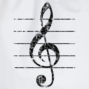 Violin key, musical key Buttons - Drawstring Bag
