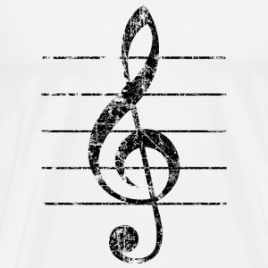 Violin key, musical key Buttons - Men's Premium T-Shirt