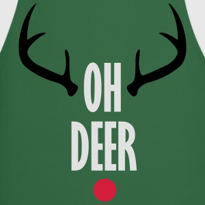 Oh Deer Christmas T-Shirts - Cooking Apron