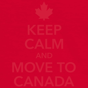 keep calm and move to Canada Maple Leaf Kanada - Männer Kontrast-T-Shirt