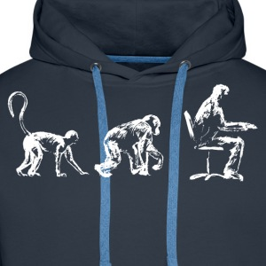 Evolution, Time for a Sit down. - Men's Premium Hoodie
