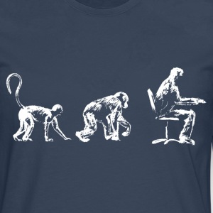 Evolution, Time for a Sit down. - Men's Premium Longsleeve Shirt