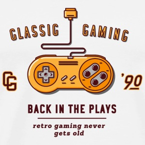 back in the plays / snes - Männer Premium T-Shirt