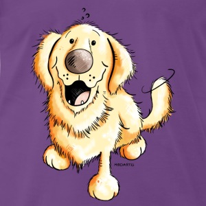 Happy Golden Retriever Débardeurs - T-shirt Premium Homme