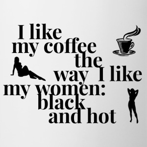 I like my coffee and women black and hot -graphics - Mok