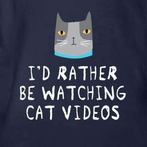 Video Cat T-Shirts - Baby Bio-Kurzarm-Body