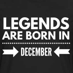 Legends December T-shirts - Mannen Premium shirt met lange mouwen