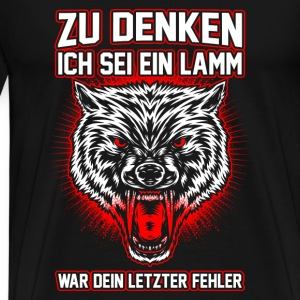 Wolf - error Long Sleeve Shirts - Men's Premium T-Shirt