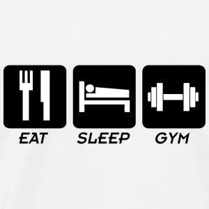EAT SLEEP GYM Sportsbeklædning - Herre premium T-shirt