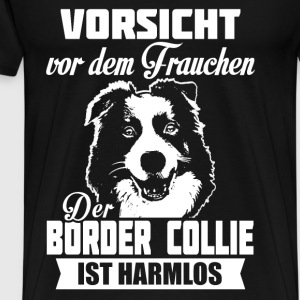 Border Collie Tröjor - Premium-T-shirt herr