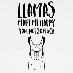 Llamas Make Me Happy - You Not So Much Tee shirts - Casquette classique