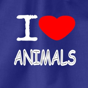 I LOVE ANIMALS - Turnbeutel