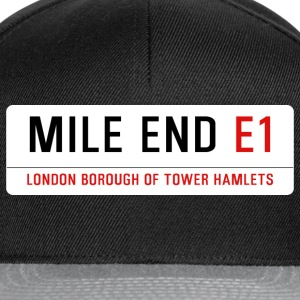 Mile End Street Sign - Snapback Cap