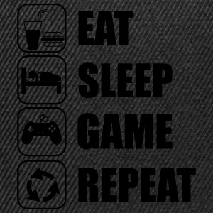 Eat,sleep,game,repeat Gamer Gaming Geek Nerd - Snapback Cap