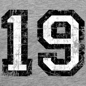 Number 19 number nineteen 19th birthday nineteenth Sports wear - Men's Premium T-Shirt