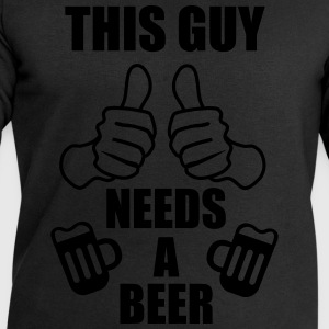 This guy needs a beer Funny t-shirt - Men's Sweatshirt by Stanley & Stella