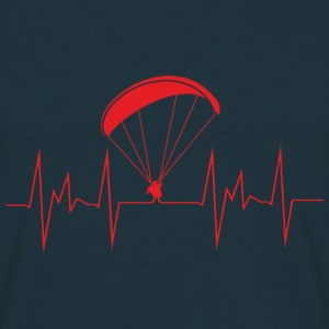 heartbeat paragliding Hoodies & Sweatshirts - Men's T-Shirt
