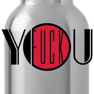 Fuck you off text logo design cool insult insult f T-Shirts - Water Bottle