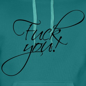 Fuck you noble star stars off text logo design coo T-Shirts - Men's Premium Hoodie