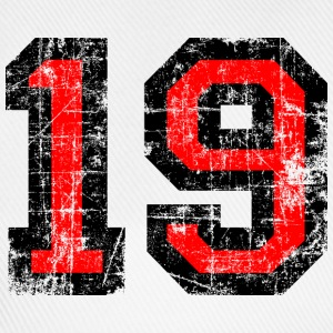 Number 19 number nineteen 19th birthday nineteenth Long sleeve shirts - Baseball Cap