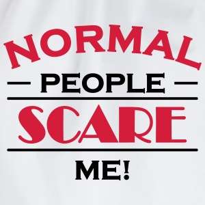 Normal people scare me! Langærmede t-shirts - Sportstaske