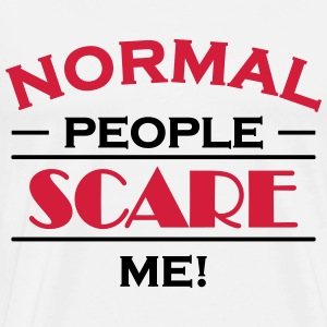 Normal people scare me! Långärmade T-shirts - Premium-T-shirt herr