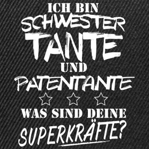 Schwester,TANTE,Patentant T-Shirts - Snapback Cap