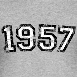 Year 1957 Birthday Vintage Hoodies & Sweatshirts - Men's Slim Fit T-Shirt
