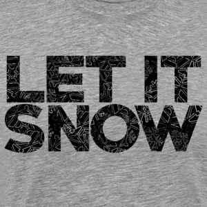 AD Snow Typography Hoodies & Sweatshirts - Men's Premium T-Shirt