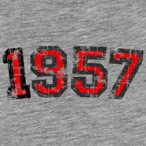 Year 1957 Birthday Vintage Caps & Hats - Men's Premium T-Shirt