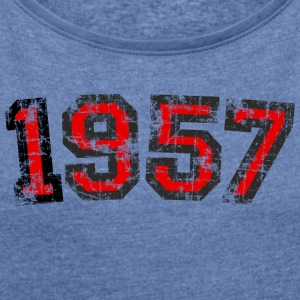 Year 1957 Birthday Vintage Bags & Backpacks - Women's T-shirt with rolled up sleeves