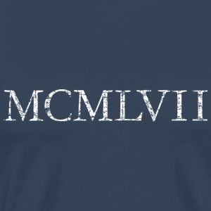 MCMLXVII 1957 Roman birthday year Long sleeve shirts - Men's Premium T-Shirt