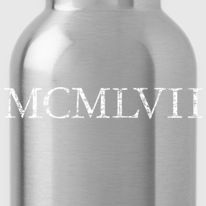 MCMLXVII 1957 Roman birthday year T-Shirts - Water Bottle