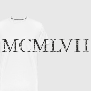 MCMLXVII born 1957 Roman birthday year Mugs & Drinkware - Men's Premium T-Shirt