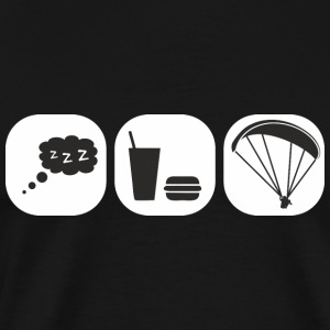 eat sleep paragliding Tops - Men's Premium T-Shirt
