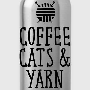 Coffee, Cats & Yarn T-shirts - Vattenflaska