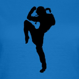 Muay Thai Silhouette Design - Frauen T-Shirt