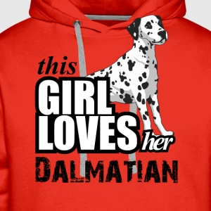 This Girl Loves Her Dalmatian T-Shirts - Men's Premium Hoodie