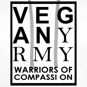 Vegan Army Warriors Of Compassion T-Shirts - Men's Premium Hoodie